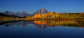 Grand tetons reflection beautiful in still water early morning time Stock Images