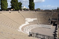 Grand theatre in pompeii the ancient roman city of the Stock Photography