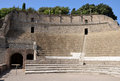 Grand theatre in pompeii the ancient roman city of the Royalty Free Stock Photography