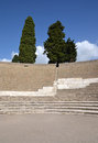 Grand theatre in pompeii the ancient roman city of the Stock Image