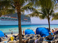 Grand turk beach view of the in turks and caicos island Royalty Free Stock Photos