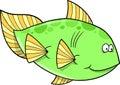 Grand vecteur vert de poissons Photos libres de droits