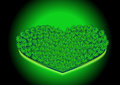 Grand vert heart vector Photos libres de droits