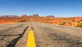 Grand vista monument valley utah highway Royalty Free Stock Photography