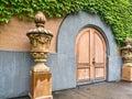 Grand winery entrance Royalty Free Stock Photo