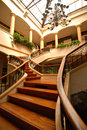 Grand Wooden Staircase Royalty Free Stock Image