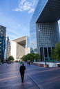 Grande Arche in La Defense, Paris, France Royalty Free Stock Photo