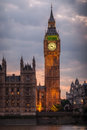Grande ben night london Fotografia Stock Libera da Diritti