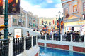 The grande canale shopping center of venetian macao resort hotel photo was taken as Stock Photo