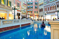 The grande canale shopping center of venetian macao resort hotel photo was taken as Royalty Free Stock Image