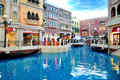 The grande canale shopping center of venetian macao resort hotel photo was taken as Royalty Free Stock Photo