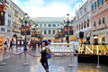 The grande canale shopping center of venetian macao resort hotel photo was taken as Royalty Free Stock Photography