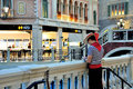 The grande canale shopping center of venetian macao resort hotel photo was taken as Stock Photography