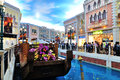 The grande canale shopping center of venetian macao resort hotel photo was taken as Stock Images