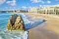 Grande Plage beach in Biarritz Royalty Free Stock Photo