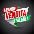 Grande vendita italiana - Italian big sale italian text