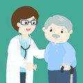 Grandfather cartoon see doctor