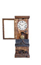 Grandfather clock a vintage isolated on a white background Royalty Free Stock Images