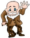 Grandfather colored cartoon illustration vector Stock Photo