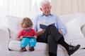 Grandfather and grandchild Royalty Free Stock Photo