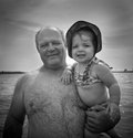 Grandfather and Granddaughter Royalty Free Stock Images