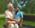 The grandfather and grandson Royalty Free Stock Photos