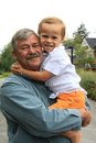 Grandfather and grandson four year old boy his Royalty Free Stock Image