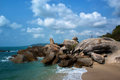 Grandfather rock in Koh Samui Royalty Free Stock Photo