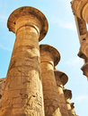 Grandiose colonnade of Karnak Temple Stock Photos