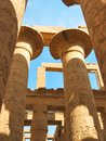 Grandiose colonnade in Karnak Temple Royalty Free Stock Image