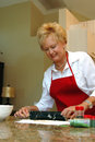Grandma baking Royalty Free Stock Image