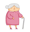 Grandma cute little vector illustration Stock Image