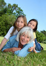 Grandma with grandchildren Royalty Free Stock Photo