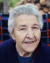 Grandma portrait of a smiling senior woman Royalty Free Stock Photo