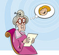 Grandma read letter Royalty Free Stock Photos