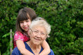 Grandma's Girl Royalty Free Stock Photos