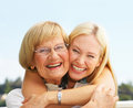 Grandmother and daughter Royalty Free Stock Photos