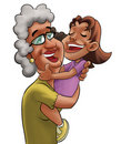 Grandmother and girl Royalty Free Stock Photo