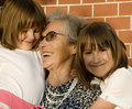 Grandmother and grandchildren Royalty Free Stock Images