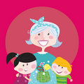 Grandmother with grandchildren Royalty Free Stock Photo