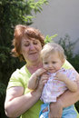 Grandmother and her granddaughter Royalty Free Stock Images