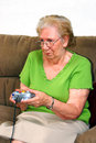Grandmother Playing Royalty Free Stock Photography