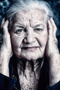 Grandmother portrait of a beautiful smiling senior woman Royalty Free Stock Images