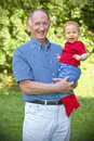 Grandpa and grandson Royalty Free Stock Image