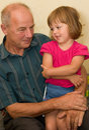 Grandpa little girl