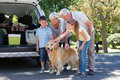 Grandparents going on road trip with grandchildren Royalty Free Stock Photo
