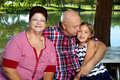 Grandparents Grandddaughter Royalty Free Stock Photo