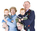 Grandparents and grandsons Royalty Free Stock Photography