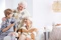 Grandson, grandma and grandpa Royalty Free Stock Photo