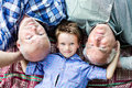 image photo : Grandson with grandparents